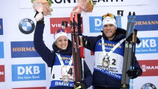 Biathlon: ombre et lumière pour le relais mixte français à Kontiolahti