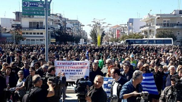 Grèce: manifestation de soutien aux soldats grecs détenus en Turquie