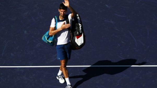 Tennis: retour manqué pour Djokovic