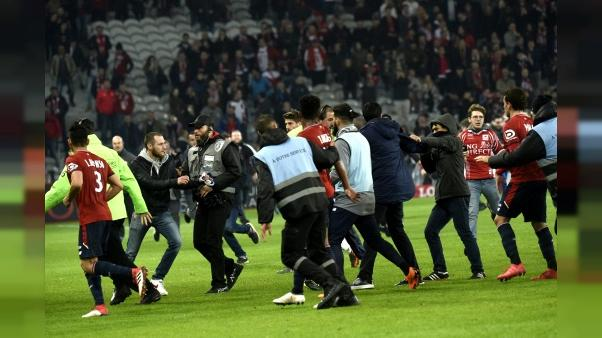 """Envahissement à Lille: plainte du Losc pour """"violences aggravées"""" et """"menaces de mort"""""""