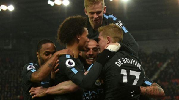 Angleterre: Manchester City facile contre Stoke