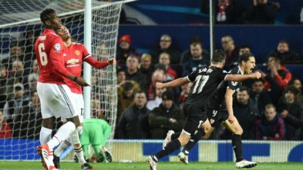 Ligue des champions: Séville élimine Manchester United et va en quarts, comme la Roma