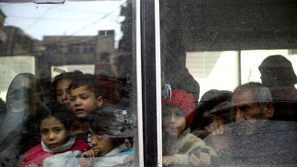 المرصد: 7000 على الأقل يغادرون جيبا بالغوطة الشرقية إلى مناطق الحكومة