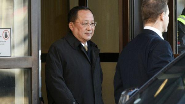 Le chef de la diplomatie nord-coréenne rencontre le Premier ministre suédois