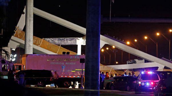 تضاؤل آمال العثور على ناجين في انهيار جسر بفلوريدا
