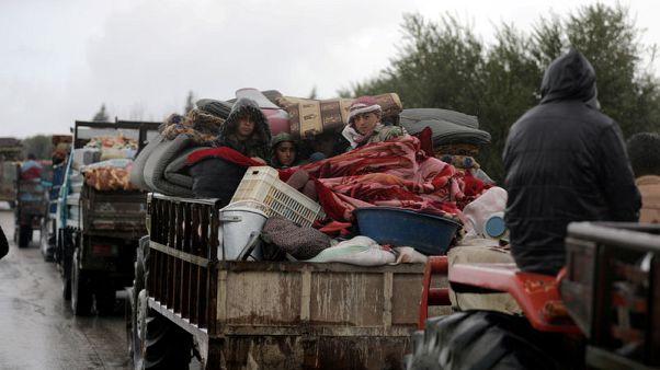 الأمم المتحدة: عشرات الآلاف شردوا في عفرين ونحو 16 ألفا غادروا الغوطة بسوريا