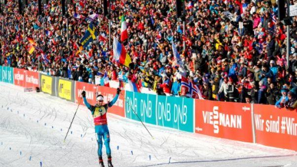 Biathlon: Martin Fourcade remporte la poursuite d'Oslo