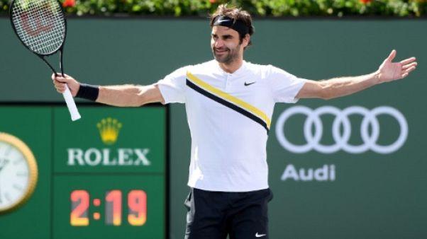 Tennis: Federer laisse passer l'orage à Indian Wells