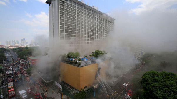 مقتل 3 على الأقل في حريق بفندق في الفلبين