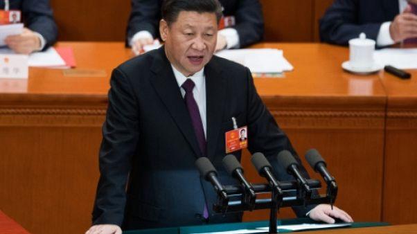 Chine: fort de sa réélection, Xi Jinping fait vibrer la corde nationaliste