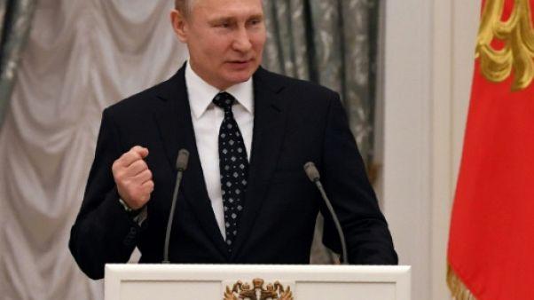 """Dopage: Poutine promet de continuer à défendre """"l'honneur sportif de la Russie"""""""