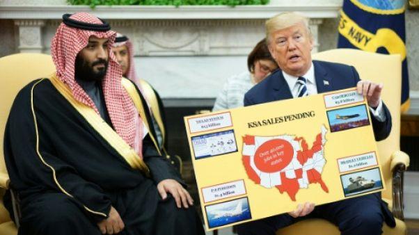 """Trump affiche sa complicité avec """"MBS"""", nouvel homme fort de Ryad"""