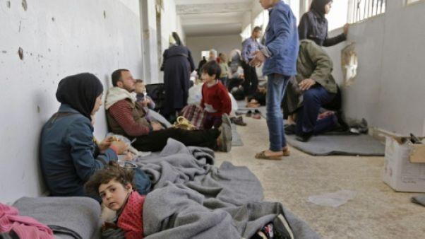 """Syrie: conditions """"tragiques"""" pour les déplacés de la Ghouta (ONU à l'AFP)"""