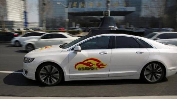 China's Baidu gets green light for self-driving vehicle tests in Beijing