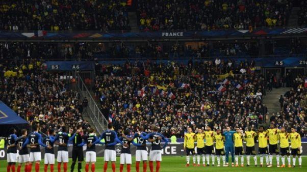 France-Colombie: une minute de silence pour les victimes des attaques dans l'Aude