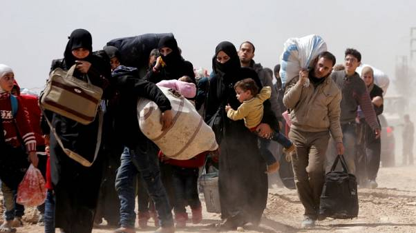 روسيا: أكثر من 105 آلاف مدني غادروا الغوطة الشرقية السورية