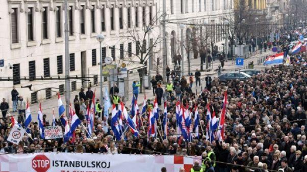 Croatie: défilé contre un traité sur les violences contre les femmes