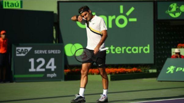 Tennis: jour de grand lessivage pour Roger Federer à Miami
