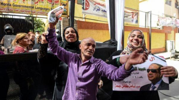Au Caire, la liesse des électeurs pro-Sissi