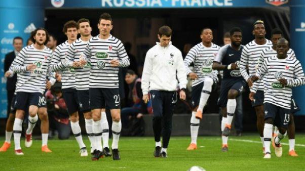 Bleus: Dembélé, Mbappé et Martial en attaque face à la Russie