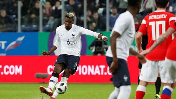 بوجبا يتألق في فوز فرنسا 3-1 على روسيا
