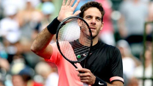 Tennis: Del Potro punit Krajinovic en 8e de finale à Miami