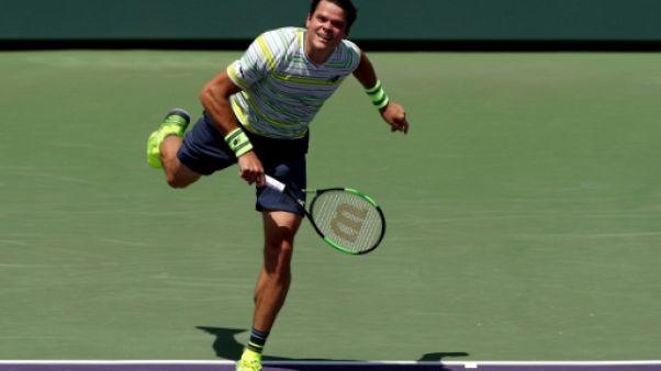 Tennis: Raonic élimine Chardy à Miami