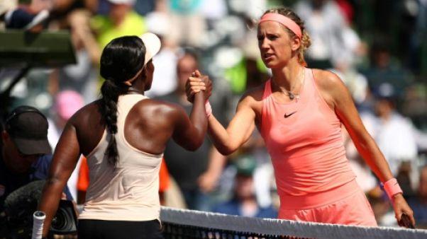 Tennis: Azarenka et Collins retombent sur terre à Miami