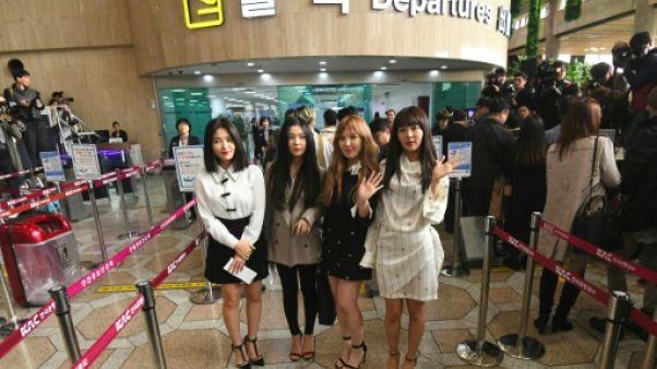 Une délégation d'artistes sud-coréens dont des stars de K-pop à Pyongyang