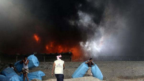 Yémen: un incendie détruit d'importants stocks d'aide humanitaire au port de Hodeida