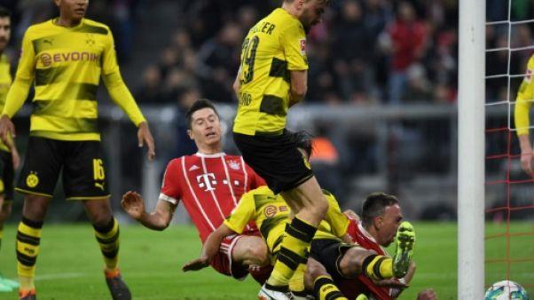 Allemagne: le Bayern désintègre Dortmund 6-0