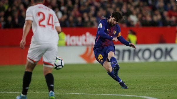البديل ميسي ينقذ برشلونة من الخسارة أمام أشبيلية بهدف قاتل