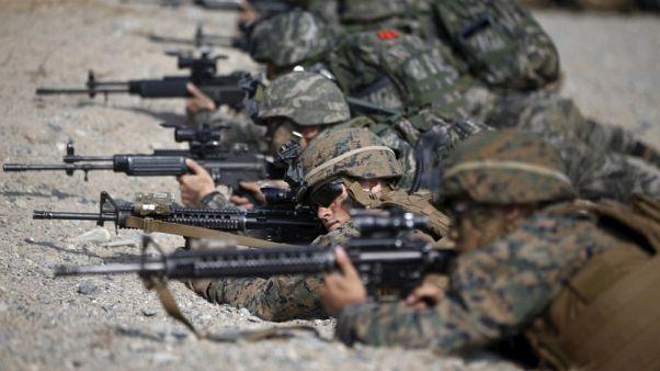 بدء تدريبات عسكرية مشتركة بين أمريكا وكوريا الجنوبية