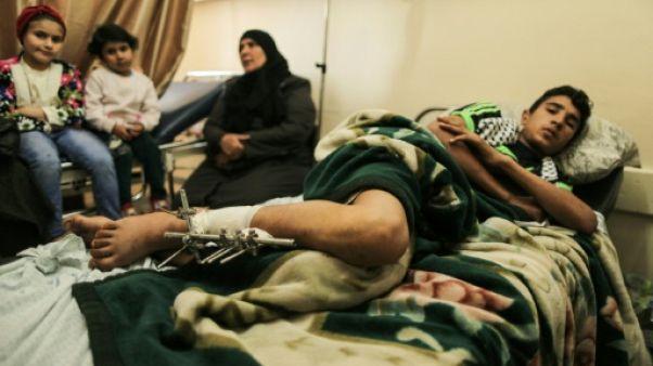 Gaza: malgré le sang et la douleur, aucun regret pour un jeune manifestant