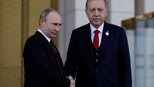 اردوغان وبوتين يدشنان رسميا العمل في بناء أول محطة كهرباء نووية تركية