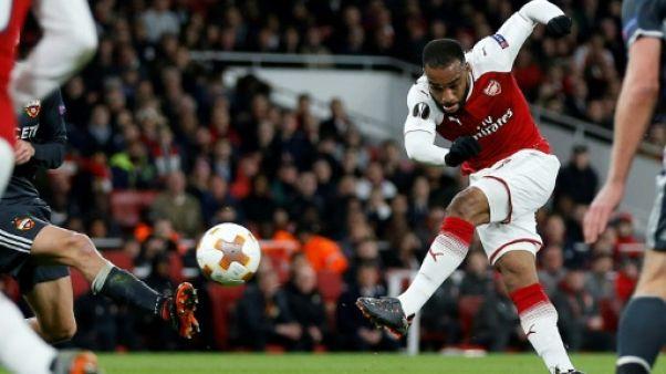 Europa League: Lacazette voit double contre le CSKA, Arsenal a un pied en demies