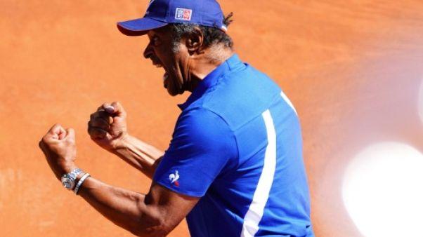 """Coupe Davis: pour Noah, si le double est à son  niveau, """"on a une bonne chance"""""""