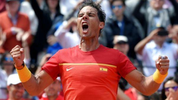 Coupe Davis: Nadal expédie l'Allemand Zverev et ramène l'Espagne à 2-2