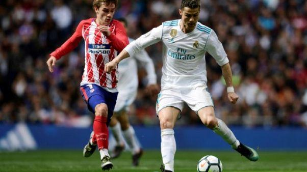 Espagne: Ronaldo et Griezmann équilibrent le derby de Madrid