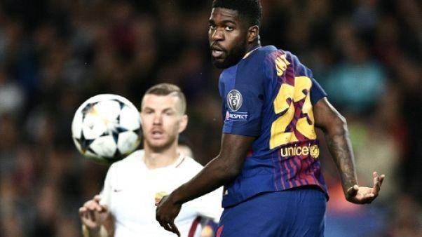 Ligue des champions: le roc Umtiti en plein flou au FC Barcelone
