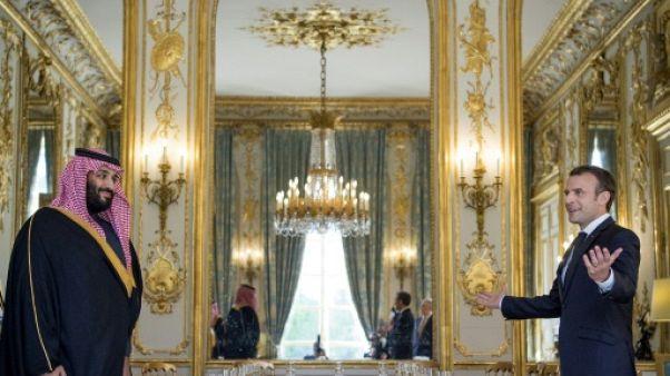 Le prince héritier saoudien et Macron affichent leur proximité mais pas sur l'Iran