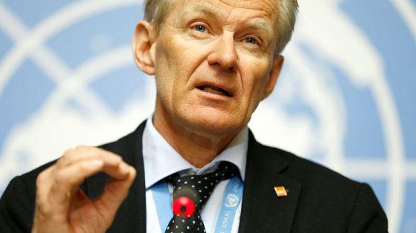 الأمم المتحدة تأمل بتوصيل المساعدات لمئة ألف مدني بعد انتهاء معركة في سوريا
