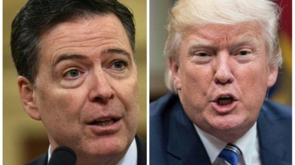 """Trump traite Comey, l'ex-directeur du FBI qu'il a limogé, de """"menteur"""""""