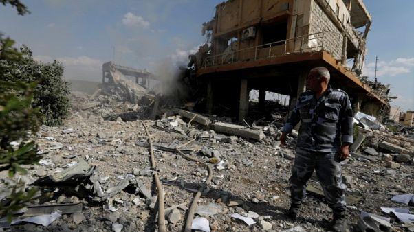 الهجوم الثلاثي على سوريا حول مركز أبحاث إلى أنقاض