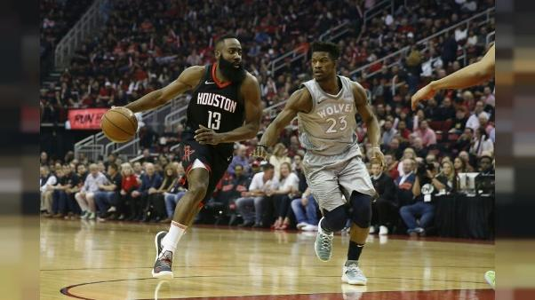 NBA: Harden enchante, James déchante