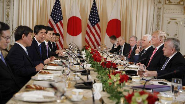 ترامب يأمل بتقليص العجز في تجارة أمريكا مع اليابان قريبا