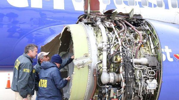 إدارة الطيران الأمريكية تأمر بفحص محركات طائرات بعد انفجار رحلة ساوث وست