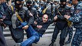 Arménie: manifestation anti-Sarkissian pour la septième journée consécutive