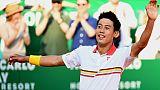 Tennis: Nishikori rejoint Nadal en finale du tournoi de Monte-Carlo