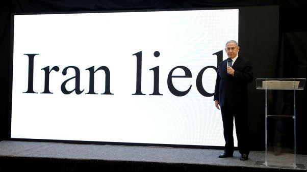 إسرائيل تعرض ملفات إيران النووية وتضغط على أمريكا للانسحاب من الاتفاق
